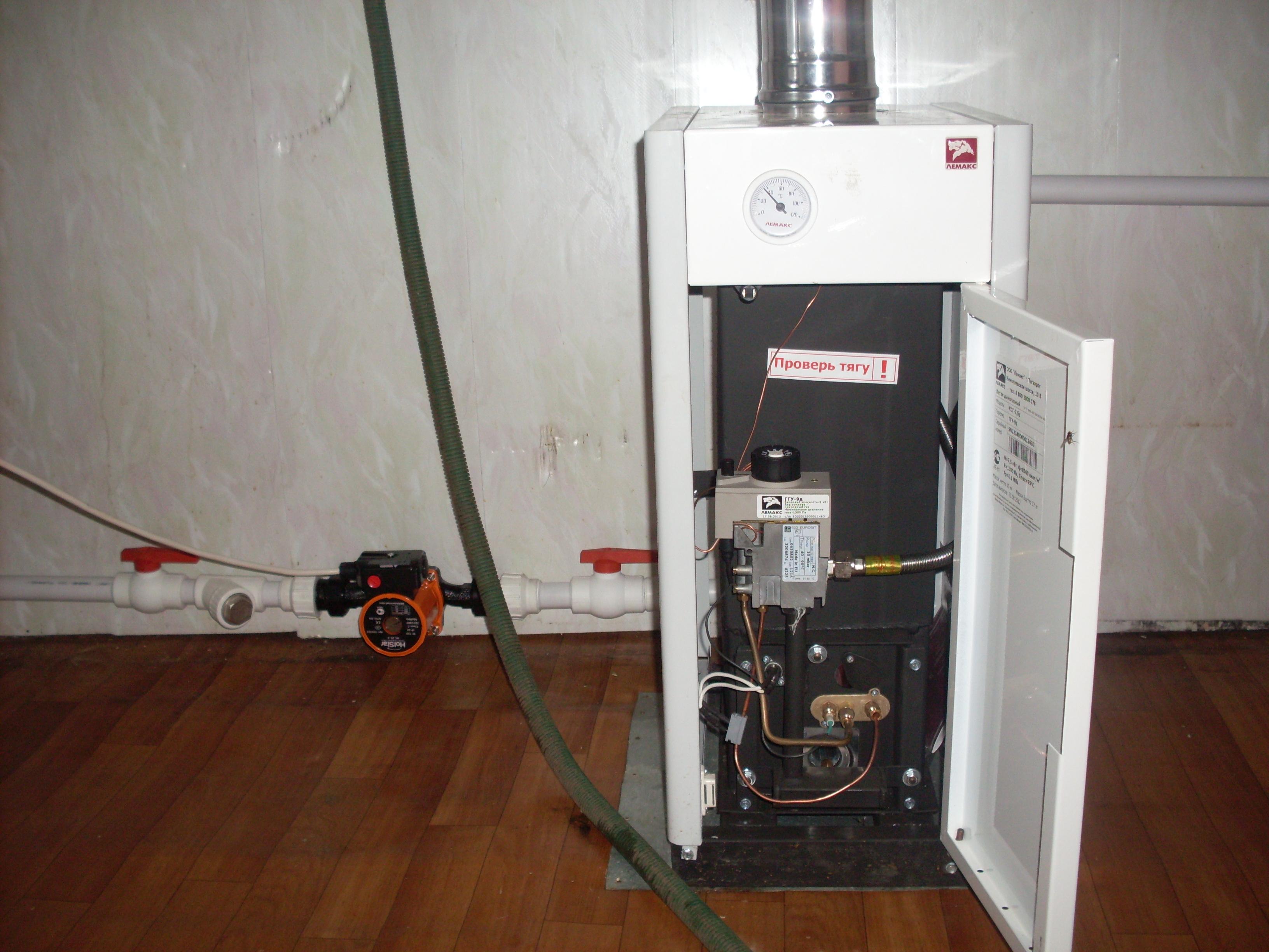 Установка настенного газового котла: монтаж 2